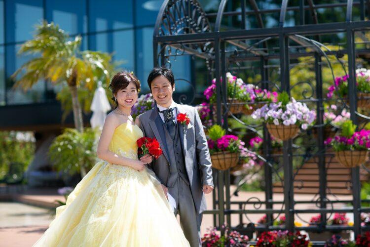想い出のブーゲンビリアを会場いっぱいに飾って★リゾート感溢れる結婚式